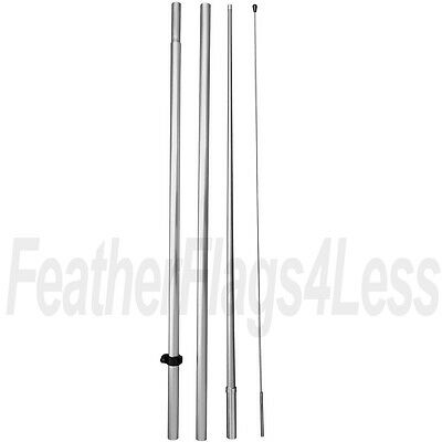 WINDLESS POLE (No Spike) for swooper feather 2.5' & 3' Windless Flag (HQ)