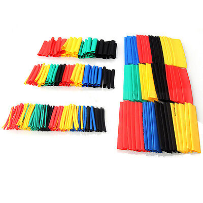328 Pcs Car Electrical Cable Heat Shrink Tube Tubing Wrap Sleeve Assorted 8Sizes