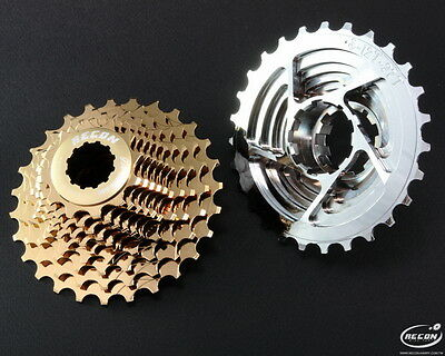 Recon Cassette 10 Speed 11-27T For Shimano_Gold Color