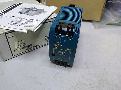 PULS POWER SUPPLY 24DC 3 amps OUTPUT -- 115/230AC Supply - ML70.100 - BRAND NEW