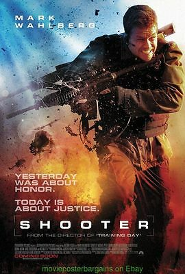SHOOTER MOVIE POSTER Original DS 27x40 International Style MARK WAHLBERG