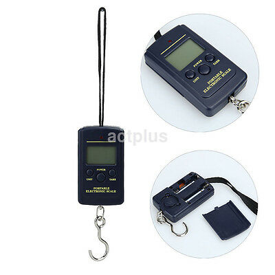 40kg x 10g Electronic large LED LCD Portable Digital Scale For Luggage Fishing