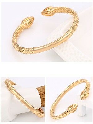 """9ct 9k Yellow """"Gold Filled"""" Ladies Carved Torque Bangle Bracelet , 57 Gift"""