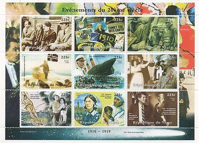 Titanic Charlie Chaplin Halley Comet Tarzan Mother Teresa Mnh Stamp Sheetlet