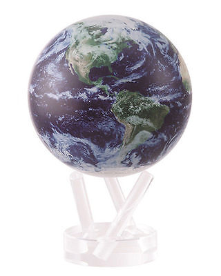 "MOVA Globe- Earth - Satellite image with clouds - 11.5 cm/ 4.5"" - self rotating"