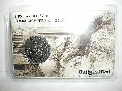 1x First World War (WW1) Commemorative King's Shilling Coin by The Daily Mail