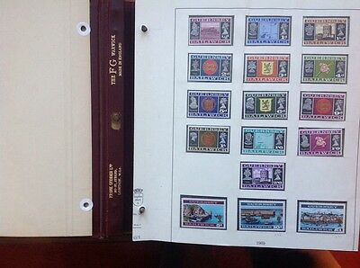 GUERNSEY Independent Post Office Issues Complete Collection in HIngeless Album