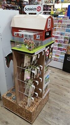 Schleich Display stand comes with Barn and horse