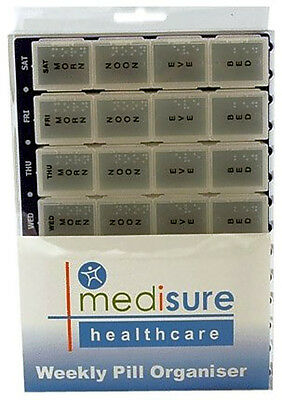 Medisure Large Weekly Pill Organiser 28 Compartments