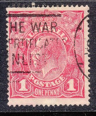 KGV    1d  RED  G 73A CARMINE PINK LARGE MULTIPLE WMK FU (COOKE PRINTING)