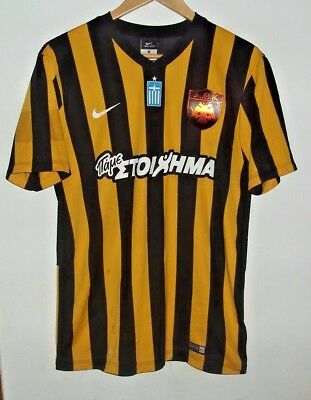 Aek Athens Matchworn / Issue Football Shirt By Nike Small #4 Vranjes Greece