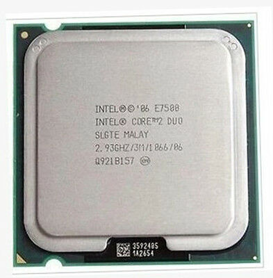 Intel Core 2 Duo E7500 2.93GHz 3MB 1066MHz Socket LGA 775 CPU Processore Tested