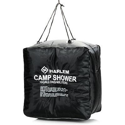 40 L/10 Gallons Solar Camping Shower Bag Heated Portable Water Outdoor Hiking