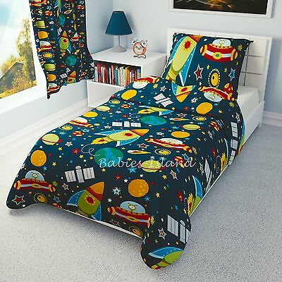 Children's Duvet cover and Pillowcase - Girls and Boys Bedding - Space Ships