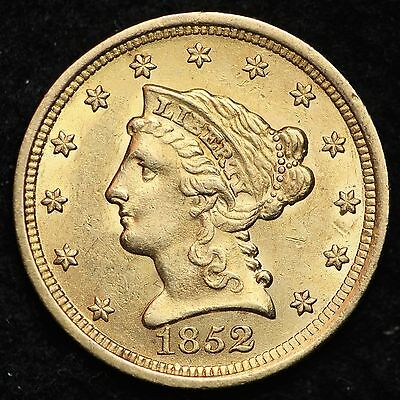 1852 Gold $2.50 Dollar Quarter Eagle CHOICE BU FREE SHIPPING E324 NMT
