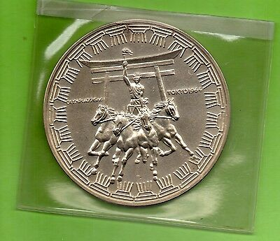 Silbermedaille - Olympia Tokyo 1964 - The 18th Olimpic Games (M210)
