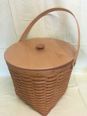 "Longaberger 2002 13"" Measuring Basket Combo w Lid"