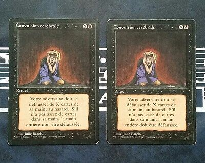 "Carte Magic Mtg "" Convulsion Cerebrale / Mind Twist "" VF 3e Ed. FBB Bords Noirs"