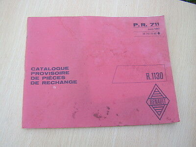Catalogue Pieces Detachees Renault 8 R 1130