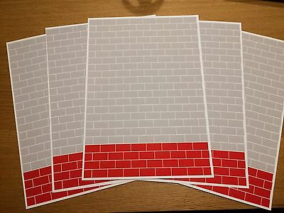 1/18 diorama 2 Tone  breeze block walling ( 5 sheets) PRICE REDUCED