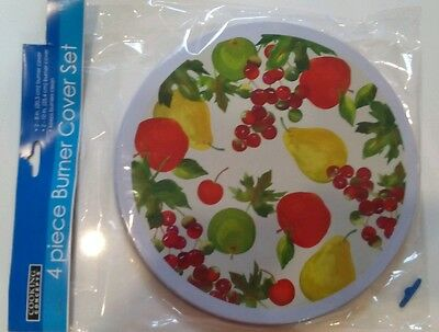 Nip Burner Covers Mixed Fruits 4 Electric Stove Covers Set Cooking Concepts
