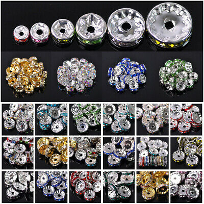 Wholesale Czech Crystal Rhinestone Rondelle Loose Spacer Beads 4/5/6/8/10/12mm