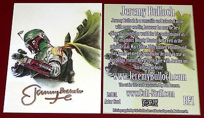 Star Wars Boba Fett Actor Jeremy Bulloch Gold Signed Public Appearances Card BF1