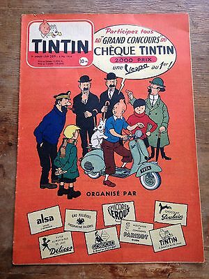 JOURNAL TINTIN 289 France (1954) couv Hergé RARE
