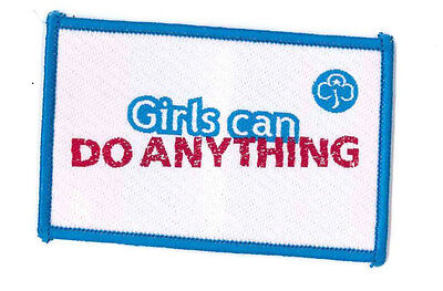 """Girl Guide Scout Brownie BADGE PATCH CREST – new! ~ UK Girls Can Do Anything 3"""""""