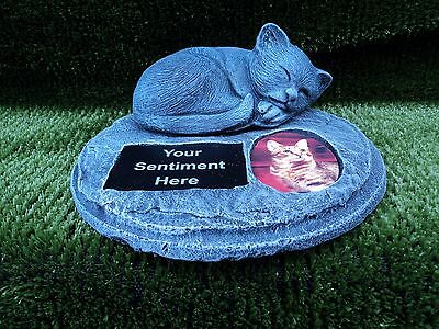 beautiful bespoke sleeping cat stone Memorial