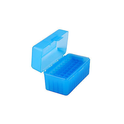 MTM Flip-Top Ammo Box 17 Rem 204 Ruger 223 Rem 50-Round Blue, RS-50-24
