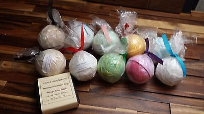 Bath Bomb Lot Gift fizzy pack of 10 assorted color and scents Like Lush DRY SKIN
