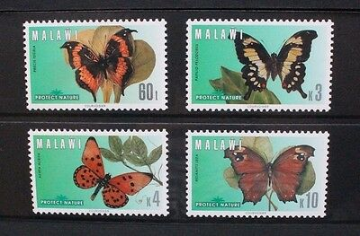 MALAWI 1996 Butterflies. Set of 4. Mint Never Hinged. SG953/956.