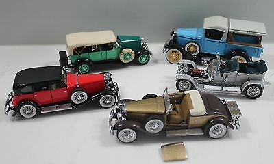 Franklin Mint Roadster Diecast Cars Lot of 5