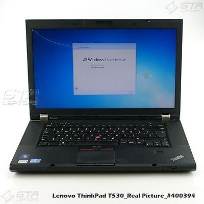 "Lenovo ThinkPad T530 i5-3320M 2.6GHz 4GB RAM 160GB HDD 15.6""Laptop Win7(#400394)"