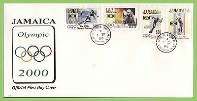 Jamaica 2000 Olympic Games, Sydney set First Day Cover