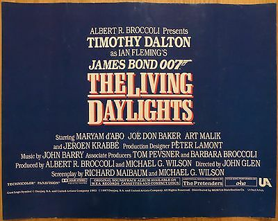 THE LIVING DAYLIGHTS (1987) - deluxe large UK lobby cards set, James Bond, rare!