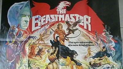 The Beastmaster -Original British Quad  Movie Poster - Signed by Marc Singer!