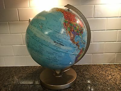 "Vintage Replogle 12"" Globe World Nation Series Raised Topography"
