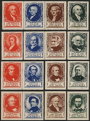 32x US PRESIDENTS 1st thru 32nd Stamps Seals Labels Cinderallas Mint