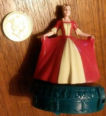 Rare Disney Princess Belle Beauty and the Beast Christmas Toy Cake Topper Figure