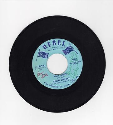 KEITH  WHITLEY, Ricky Skaggs, Ralph Stanley RARE HAND SIGNED 45rpm Record