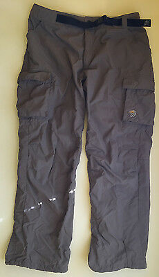Mountain Hardwear Men's Cargo Camping Hiking Pants Brown Size L Free Shipping