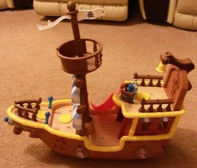 Disney Jake and The Never Land Pirates Musical Pirate Ship Bucky Boat Mattel Toy