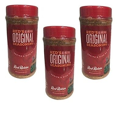 Red Robin All-Natural Original Seasoning 16 oz LOT OF THREE (3)
