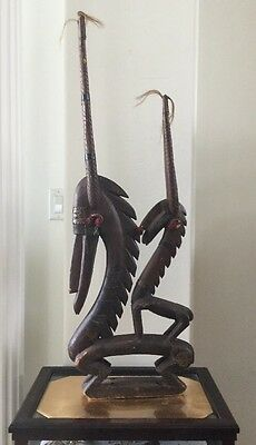 Unique Chi-Wara African Antelope Headdress