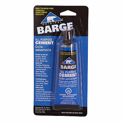 Barge Original All Purpose Cement 2oz Tube Adhesive Glue for Leather Rubber Wood