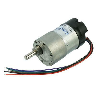 Genuine Cytron DC Geared Motor with Encoder SPG30E-20K - 12VDC - Gear Ratio 20:1