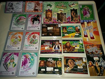 2006 2007 Breygent The Wizard of OZ : HUGE LOT autograph props +++ BV$$$ -AKc