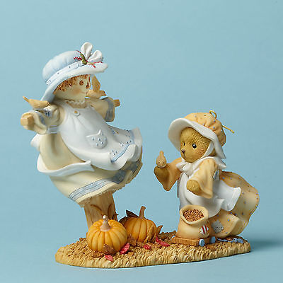 Cherished Teddies*BEAR with SCARECROW*New*NIB*Eliza*AUTUMN IS IN THE AIR*4042749